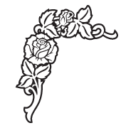 Clipart Image For Headstone Monument rose 31
