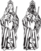 Clipart Image For Headstone Monument saints 05