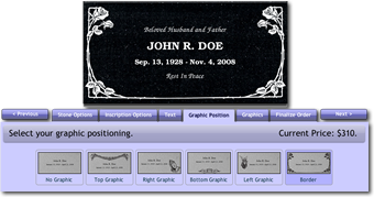 Headstones and Memorials Online Designer