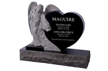 Leaning Angel heart Upright includes 48~ Base
