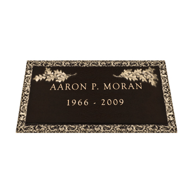 Bronze Headstone 24x14 Individual without Base