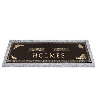 Bronze Headstone 36x13 Companion