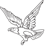 Clipart Image For Headstone Monument Eagle 07