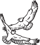 Clipart Image For Headstone Monument Eagle 08