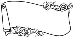 Clipart Image For Headstone Monument Scroll 04B